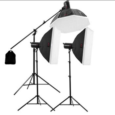 金贝SPARK II400W摄影灯摄影棚套装影室闪光灯引闪器...