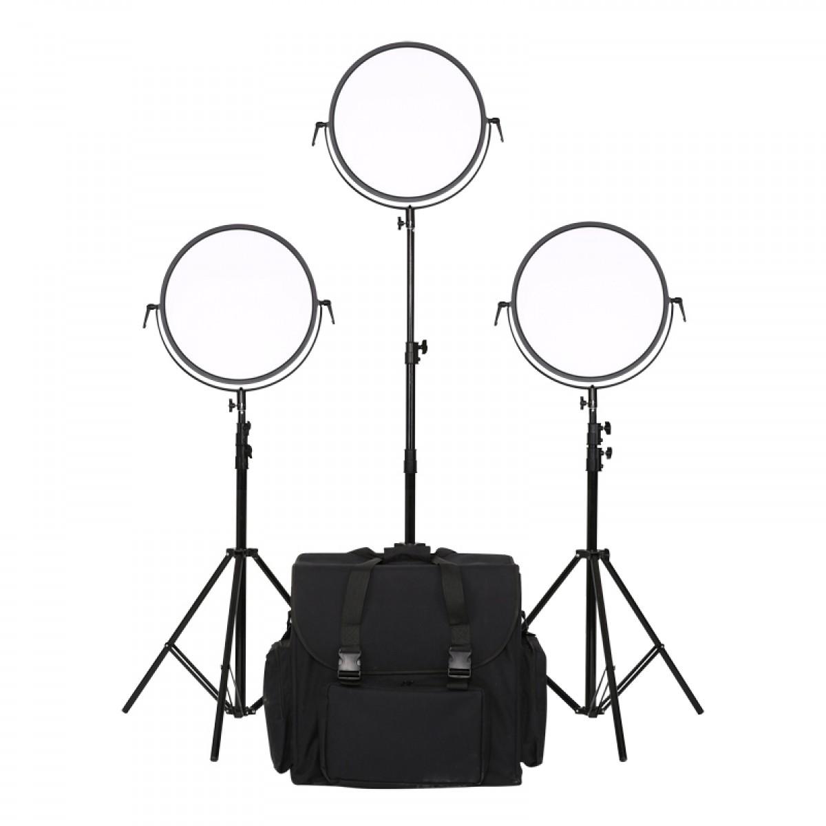 利帅 C700RS补光灯摄像摄影灯led外拍影视灯演播室微电影人像套装