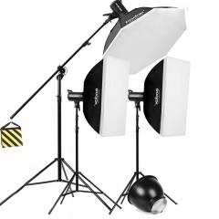 神牛SK400ii二代摄影灯 400W影室闪光灯人像影棚补光灯拍照灯套装