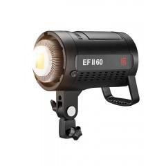 金贝EFII-60W LED摄影灯常亮灯vlog视频直播补光灯儿童婴幼儿拍照灯摄影摄像夜景拍摄柔光灯便携外拍