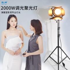 雁牌2000W摄影灯调光钨丝聚光灯影视电影视频灯美发店补光逆光灯