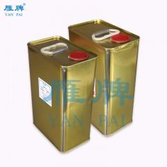 雁牌无味透明亮光淋膜液UV淋膜机油性UV上光油 高光照片淋膜液4kg