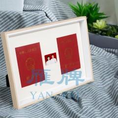 雁牌简约创意结婚登记证相框摆台结婚证件照登记照相框收藏框