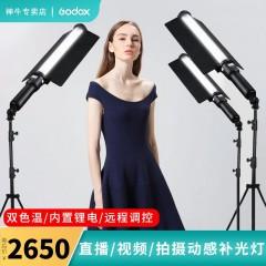 神牛(Godox)LED补光灯LC500补光棒摄影灯可调双色温冰灯抖音主播外拍录像便携拍摄手持棒灯 LC500棒灯(官方标配)