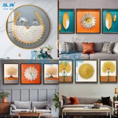 雁牌实物画装饰画材料饰品画框金属配件葡萄叶银杏叶枫叶葫芦片叶