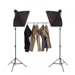 金贝DII250w双灯套装摄影灯套装柔光箱摄影棚摄影器材拍摄灯补光灯影室闪光灯