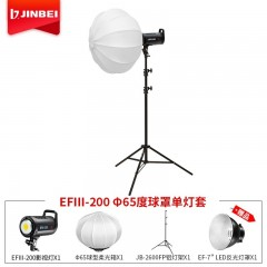 金贝EFIII200W摄影灯直播柔光灯 三代大功率LED常亮灯 视频灯摄像灯婚纱儿童补光灯影棚拍摄灯