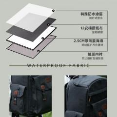 摄影包双肩专业单反大容量佳能阿尔飞斯背包尼康复古单反包相机包