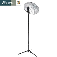 faith辉驰FL-F2 超轻相机三脚架2米摄影闪光灯架 铝合金便携脚架